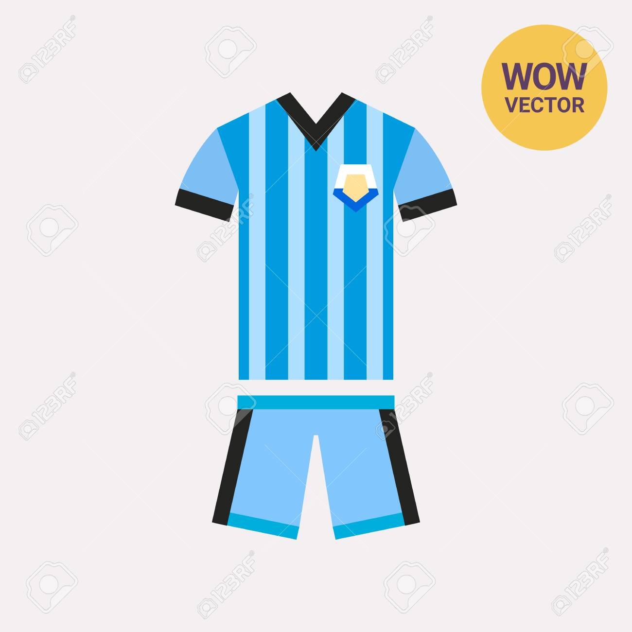e50e96182 Argentinian Blue Football Kit Icon. Argentinian Football Team ...