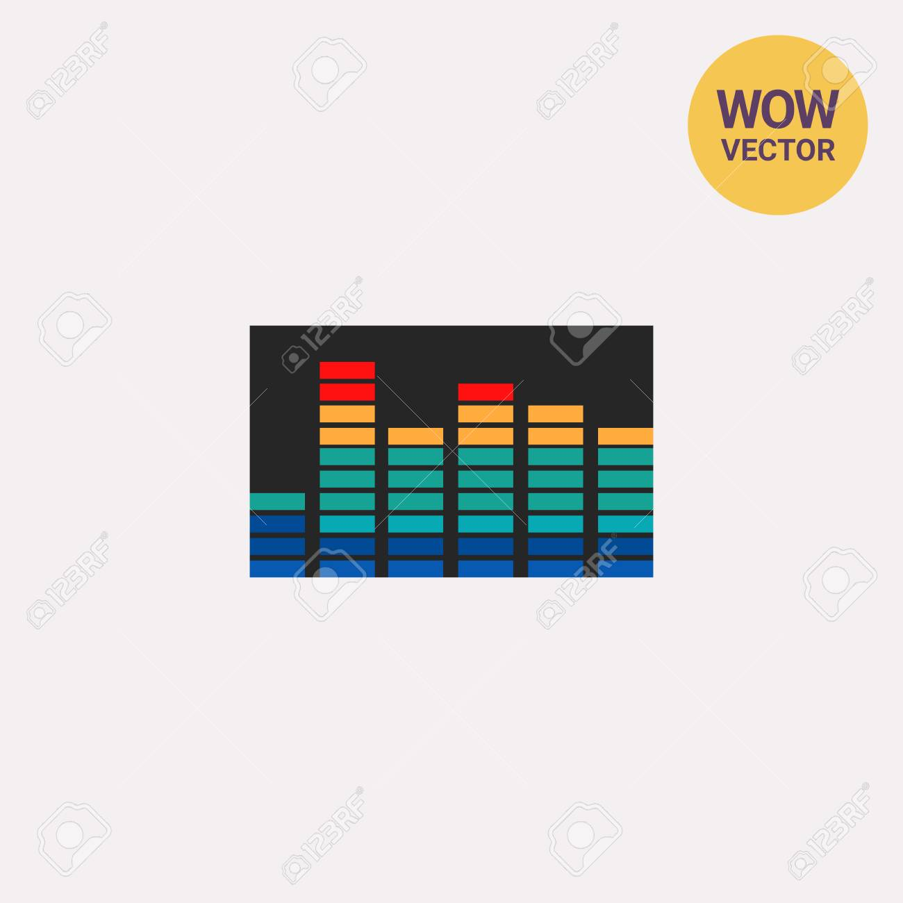 Audio level  Sound, equipment, nightclub  Equalizer concept