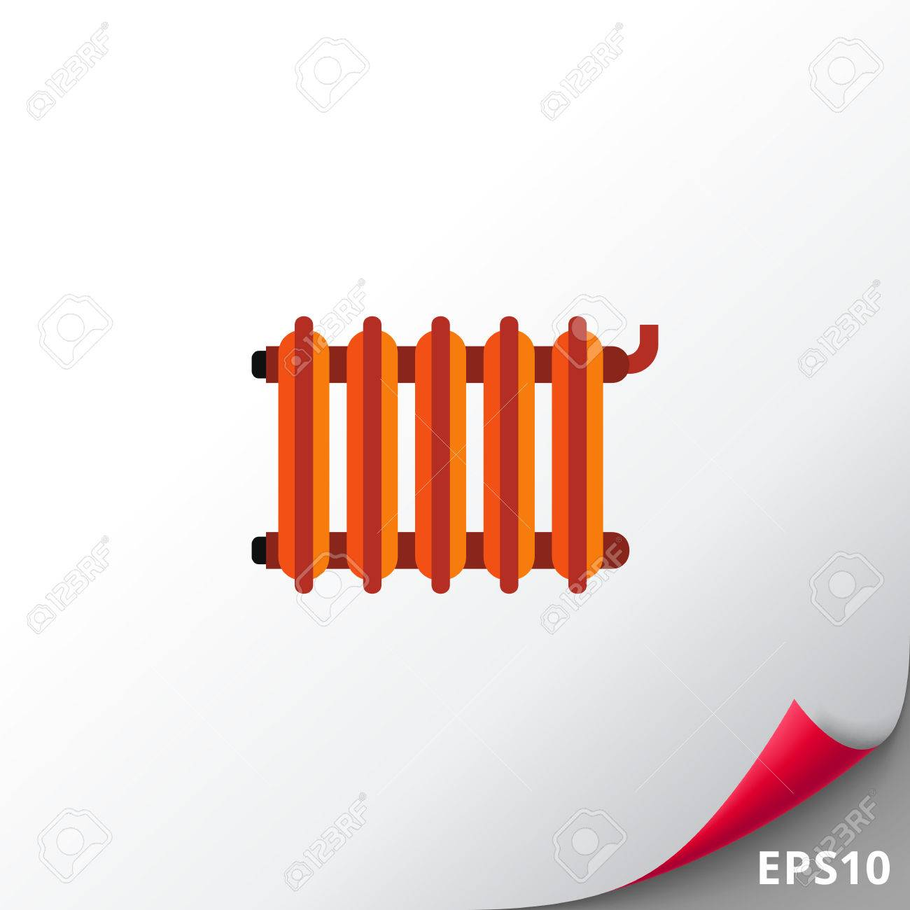 Vector Icon Of Radiator. Heating System, Central Heating, Convector ...