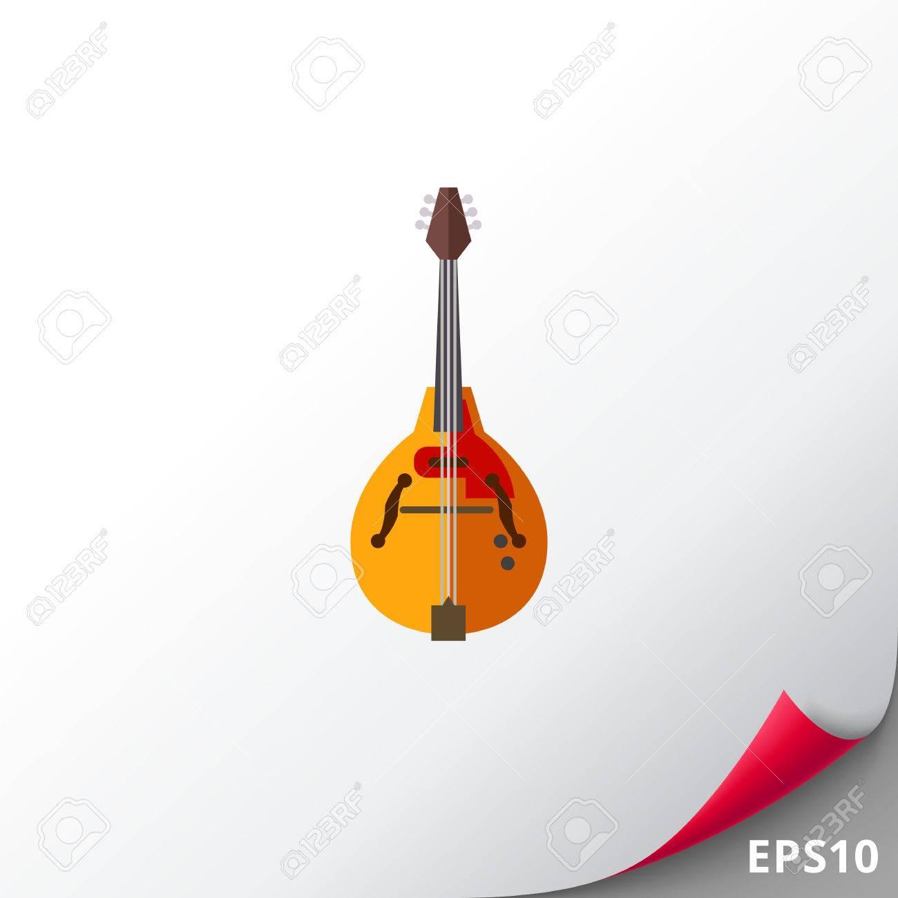 マンドリン楽器アイコンのイラスト素材ベクタ Image 74149456