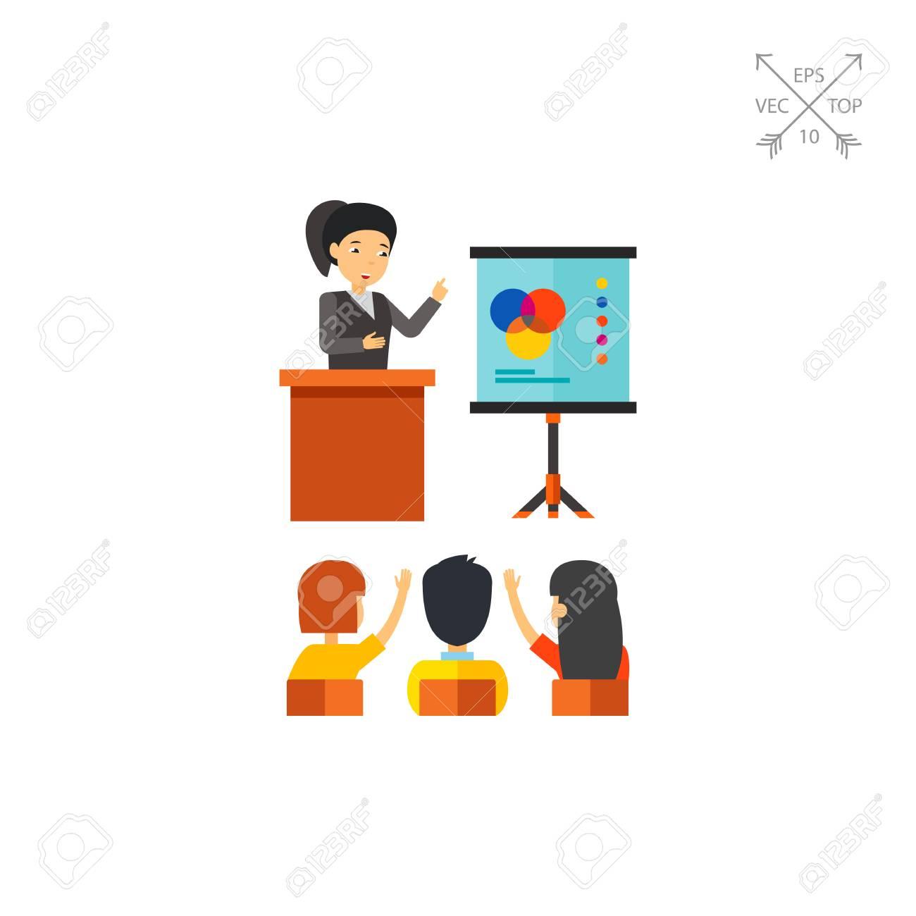 Giving Presentation Clipart