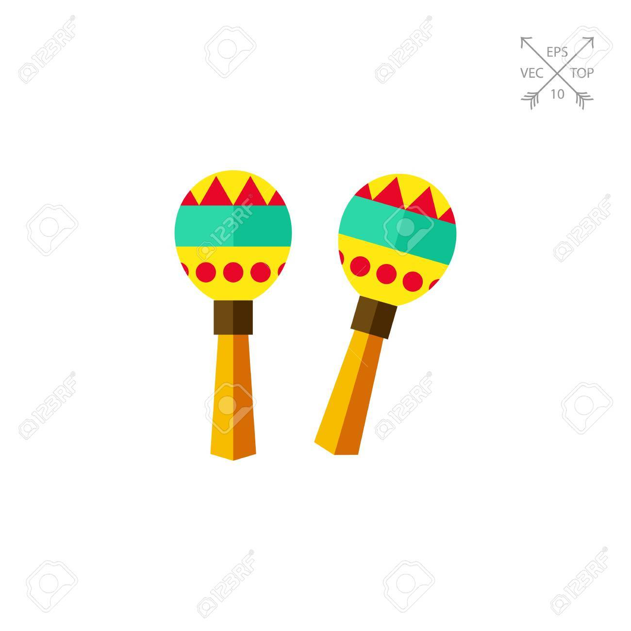 colorful maracas icon royalty free cliparts vectors and stock
