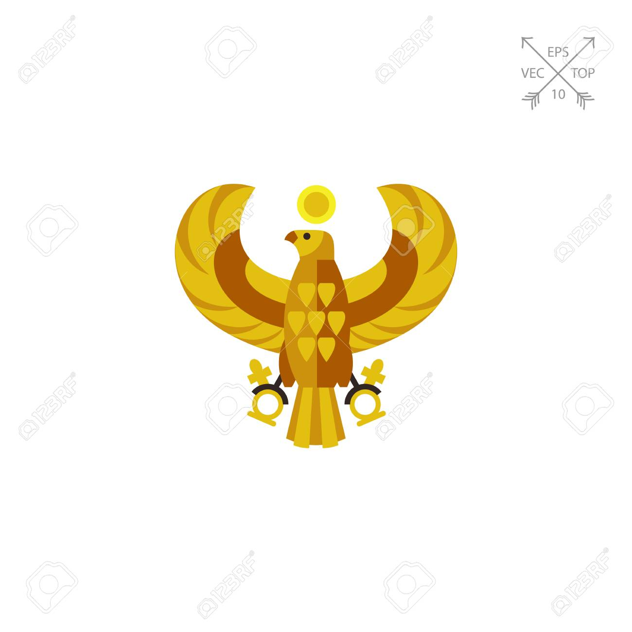 Egyptian horus falcon vector icon royalty free cliparts vectors egyptian horus falcon vector icon stock vector 75021348 biocorpaavc Images