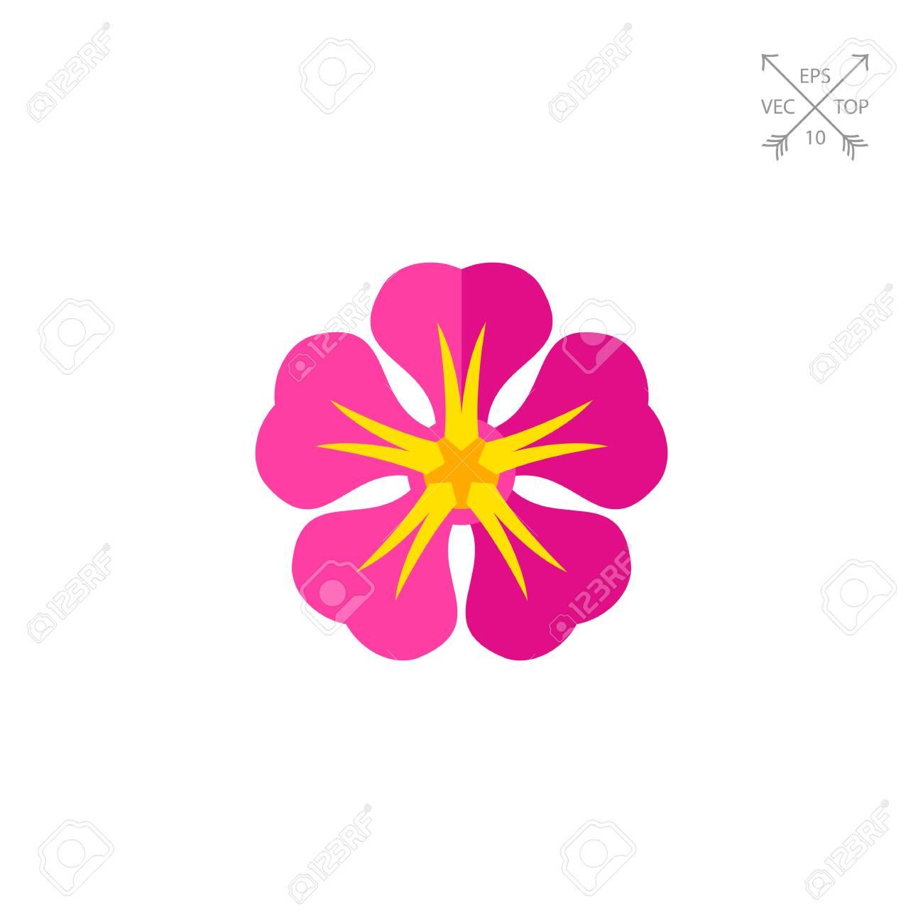 Vector icon of pink frangipani hawaiian flower tropical flower vector icon of pink frangipani hawaiian flower tropical flower hawaiian flora hawaii izmirmasajfo