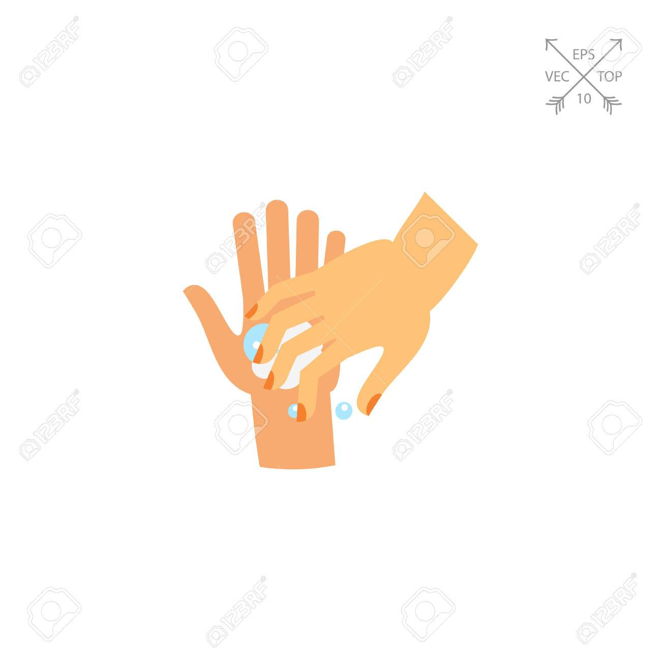 Washing Fingernails Icon Royalty Free Cliparts, Vectors, And Stock ...