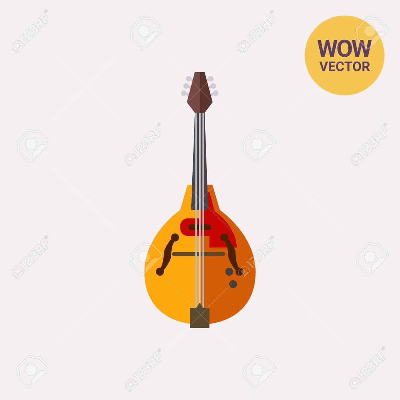 マンドリン楽器アイコンのイラスト素材ベクタ Image 76273500