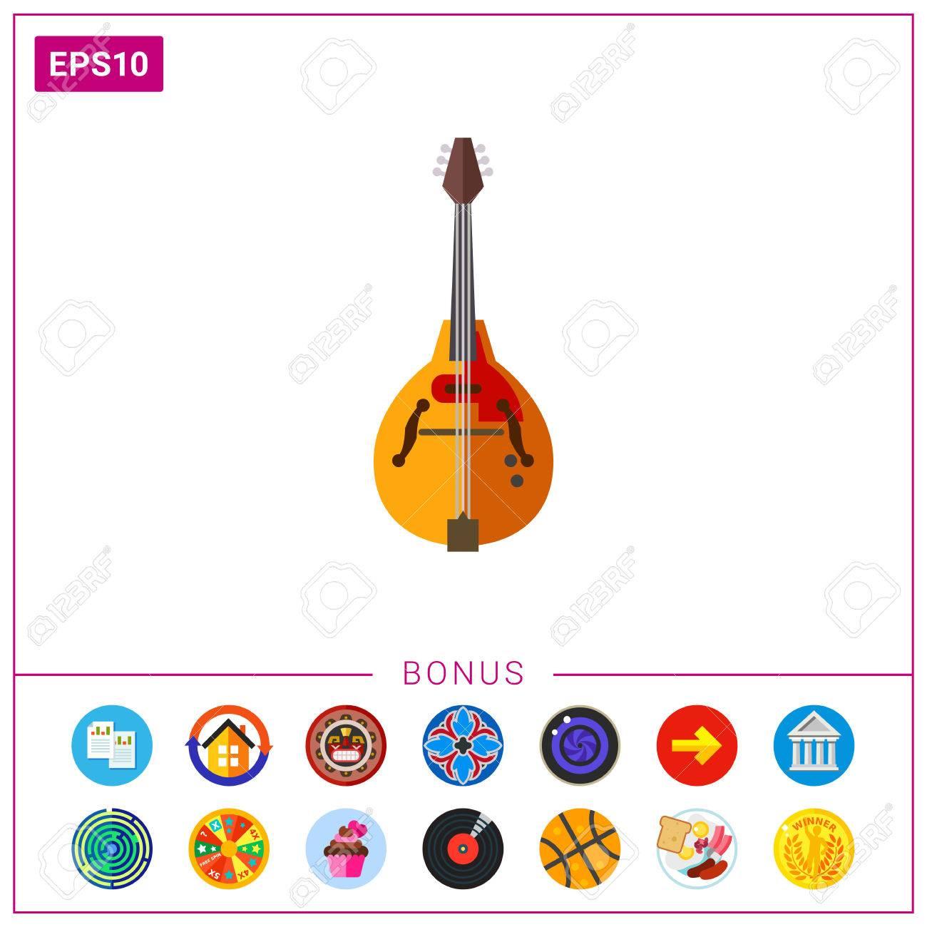 マンドリン楽器アイコンのイラスト素材ベクタ Image 76828143