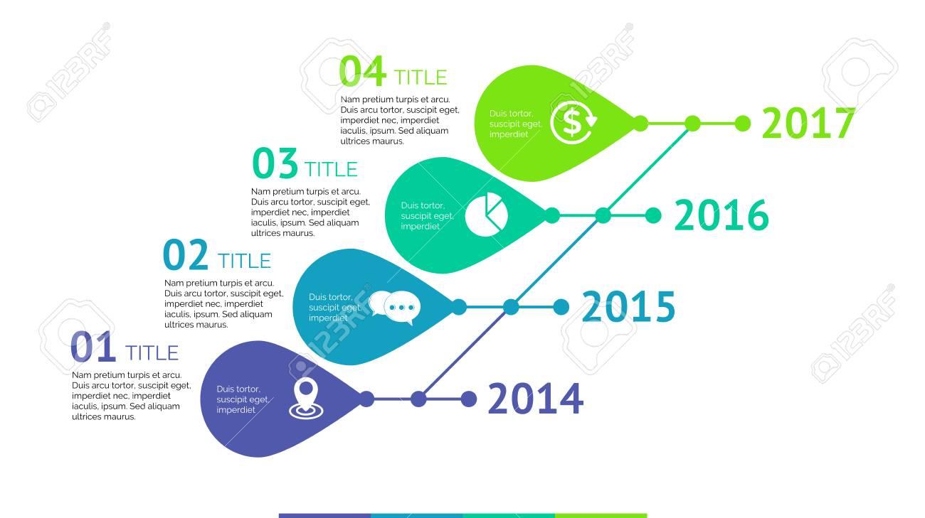 Plantilla De Diapositiva De Gráfico De Proceso De Línea De Tiempo De ...