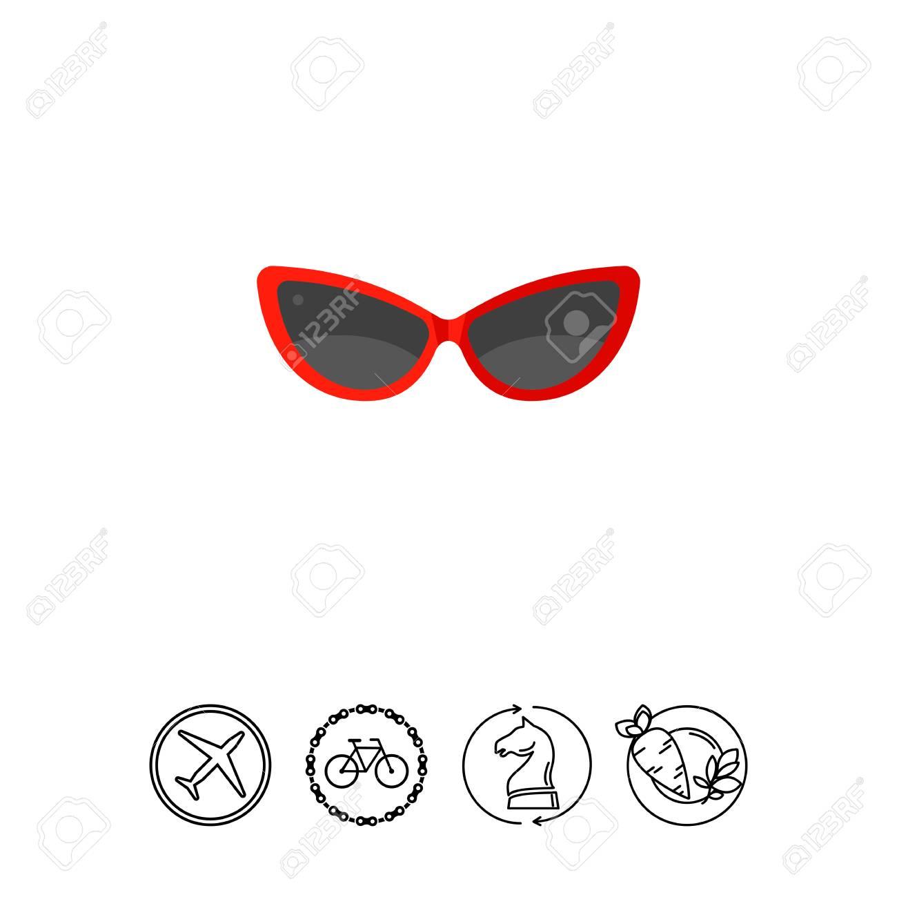 92f0a941505613 Soleil, plage, protection. Lunettes de soleil concept. Peut être utilisé  pour des sujets tels que l été, les vacances, centres de villégiature.