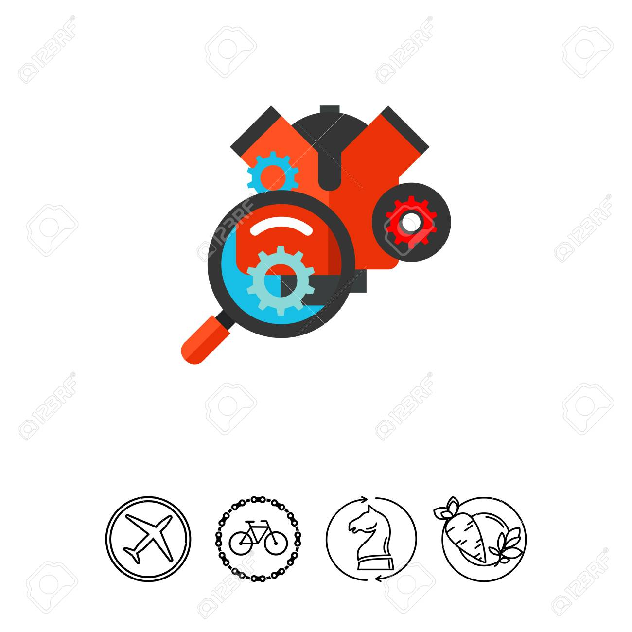 Car engine diagnostic repair icon royalty free cliparts vectors car engine diagnostic repair icon stock vector 79527081 biocorpaavc Gallery