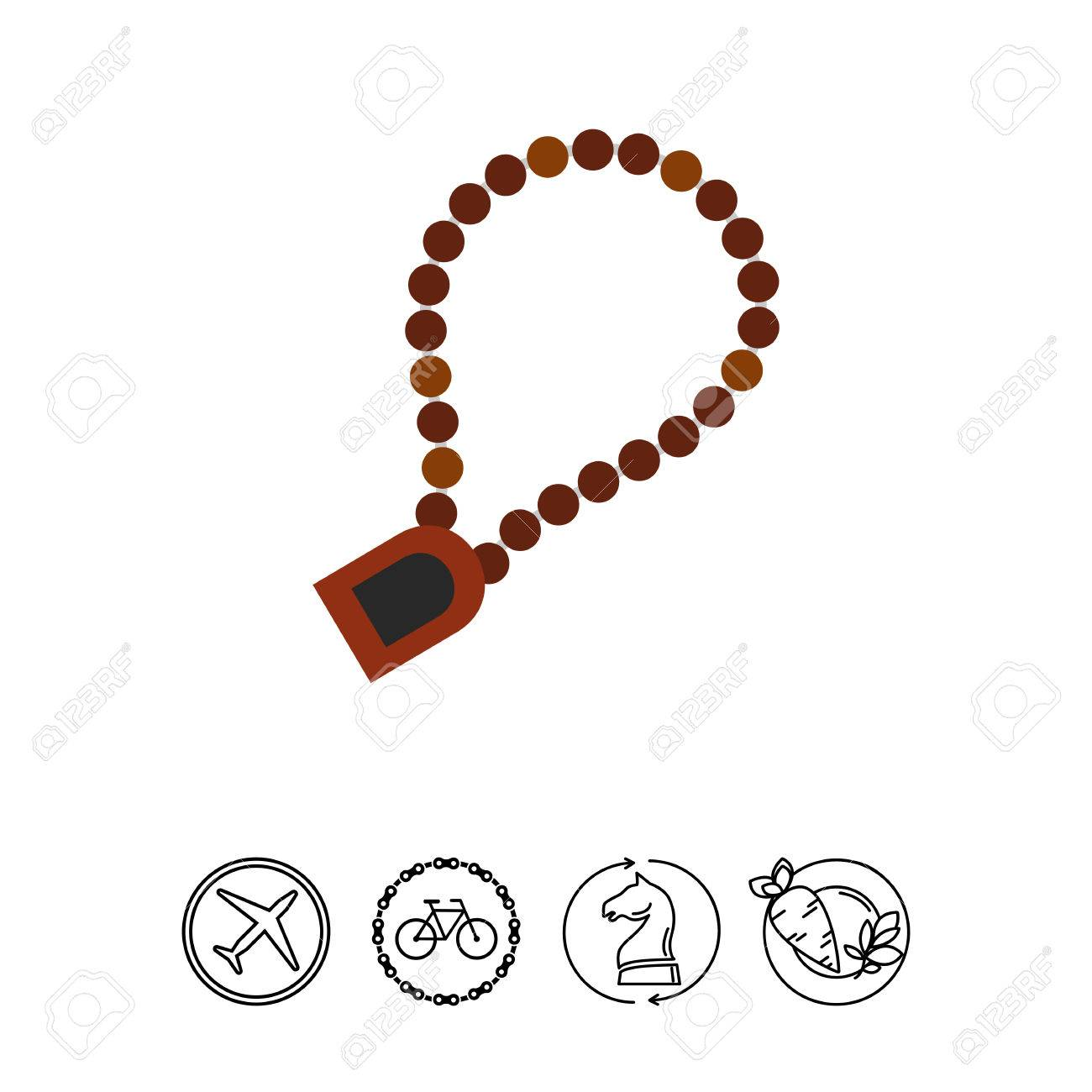 Rosary For Prayer Icon Royalty Free Cliparts Vectors And Stock