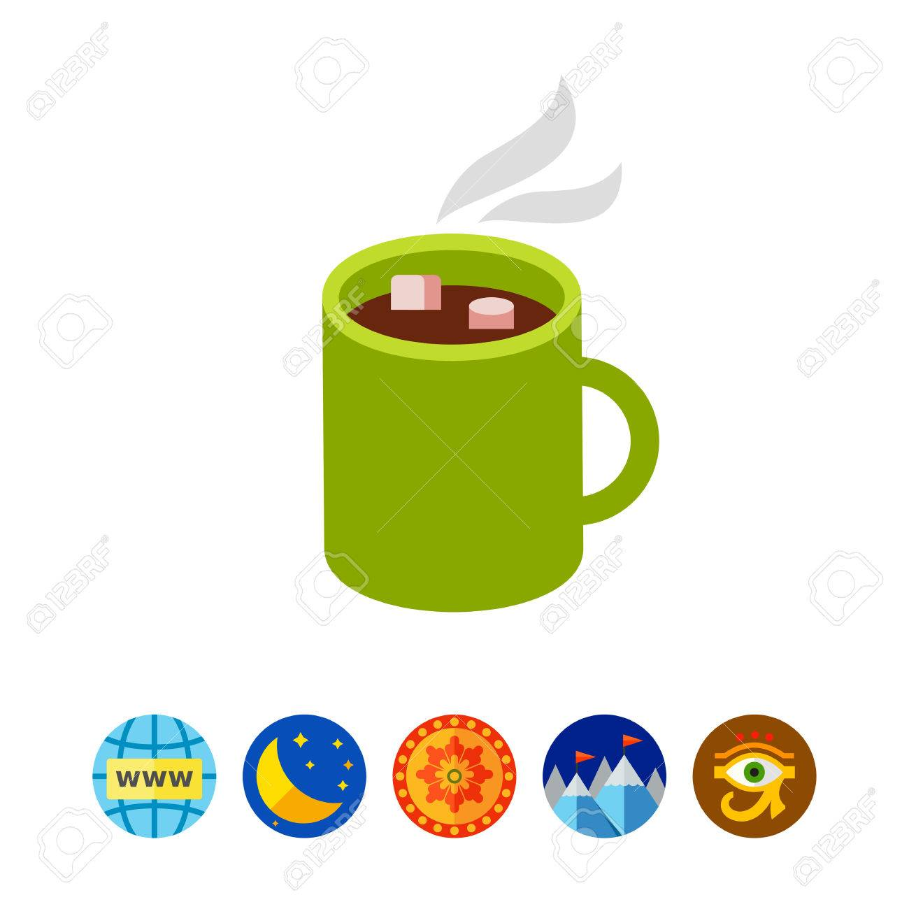 hot chocolate mug clipart. hot chocolate in mug. dessert, sweet, beverage. concept. can be mug clipart