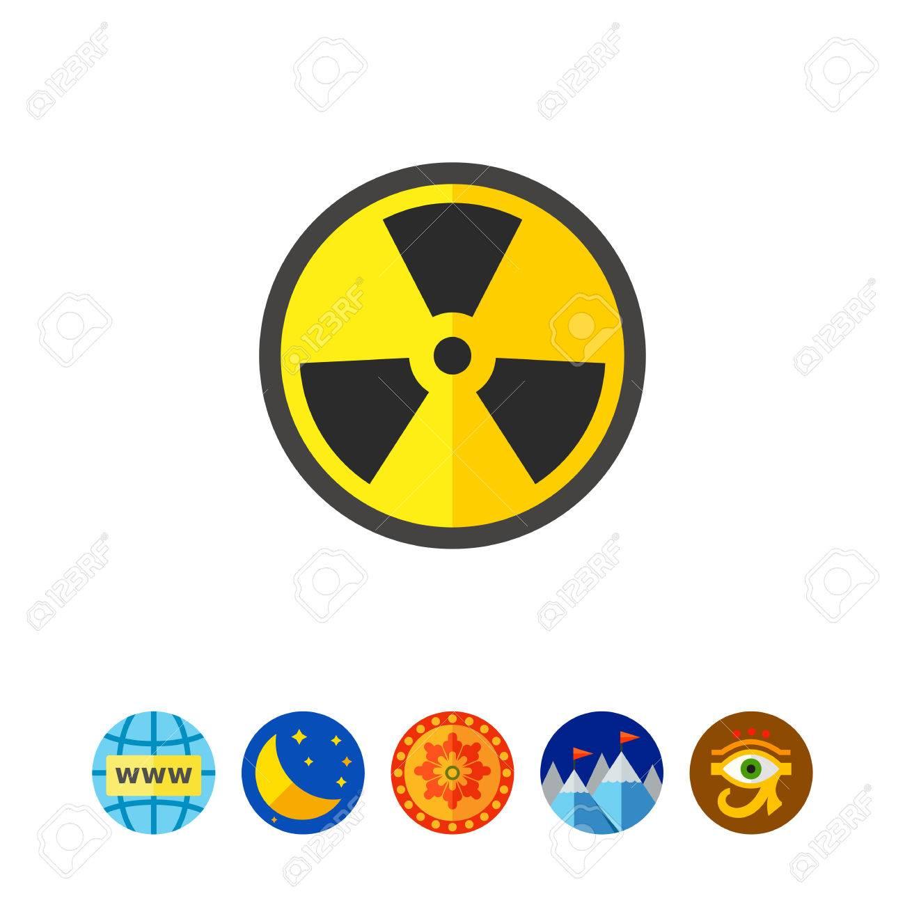 Black And Yellow International Radiation Hazard Symbol Physics