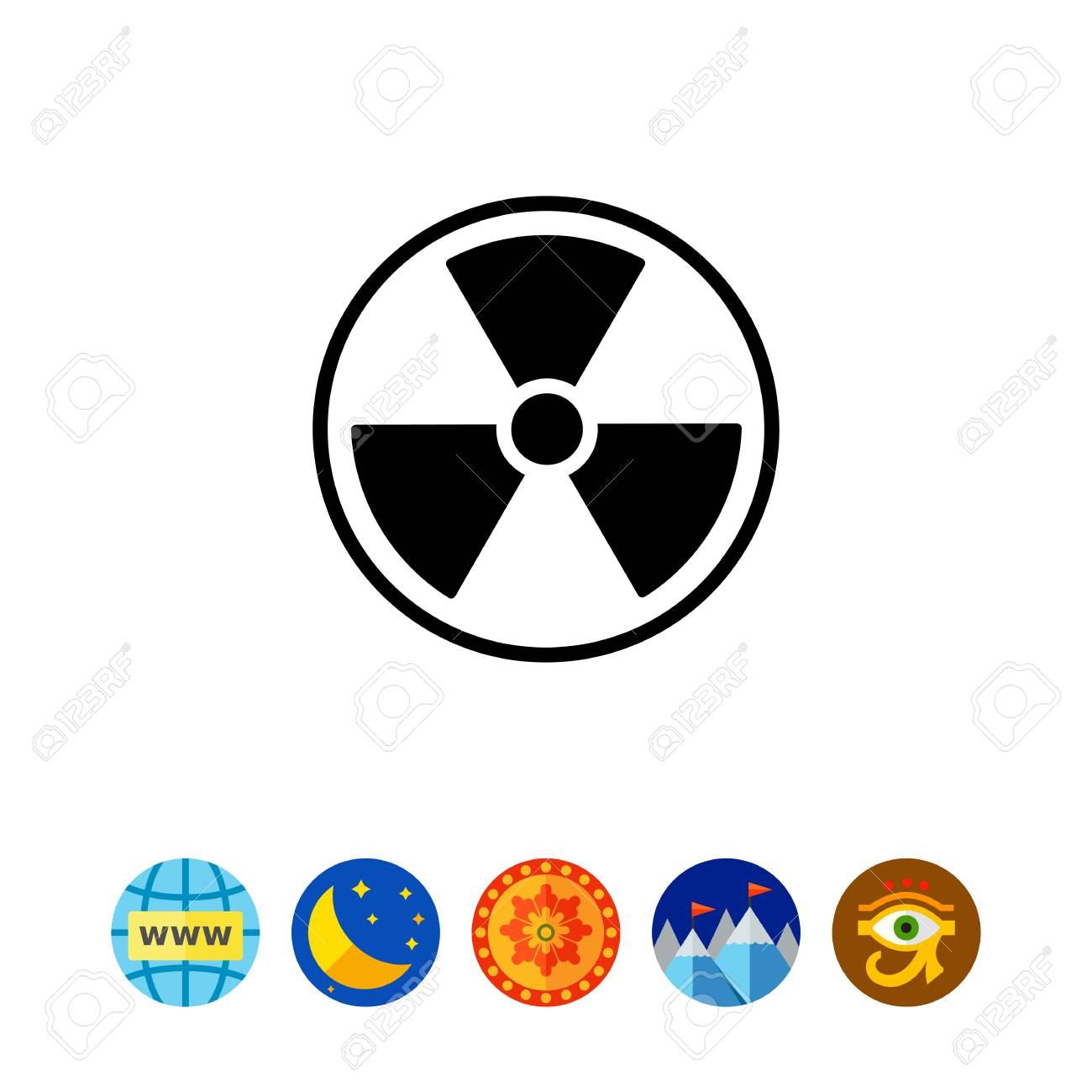 Monochrome vector icon of international radiation hazard symbol monochrome vector icon of international radiation hazard symbol stock vector 80449402 biocorpaavc Image collections