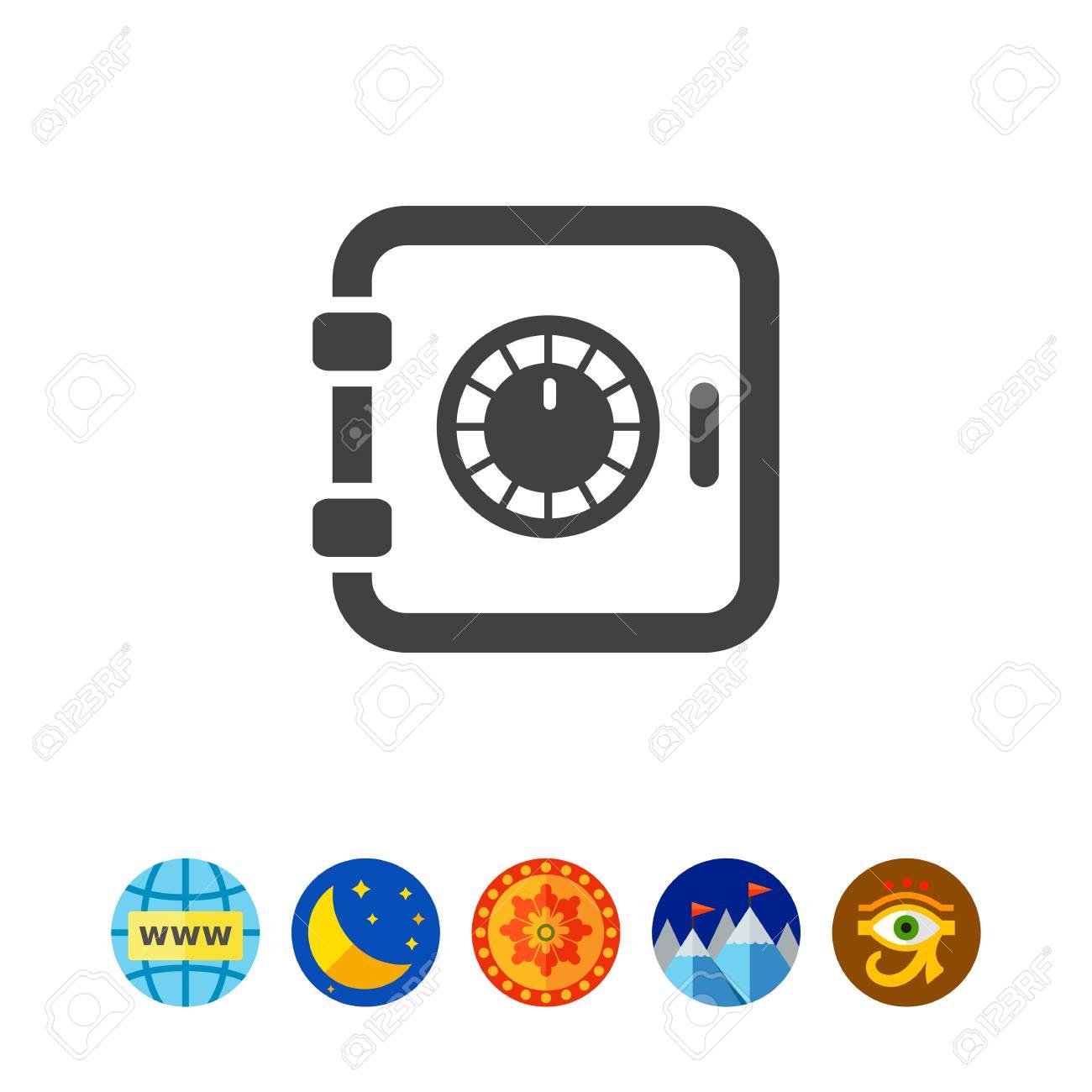 セーフ ボックス アイコンのイラスト素材ベクタ Image 80472730