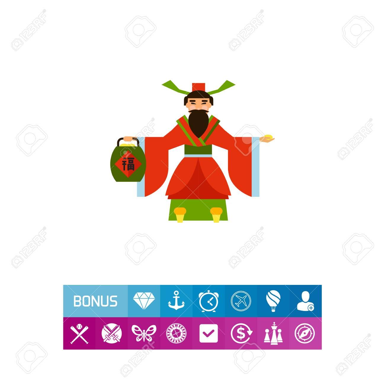 Chinese god of wealth icon royalty free cliparts vectors and chinese god of wealth icon stock vector 81786015 buycottarizona Images
