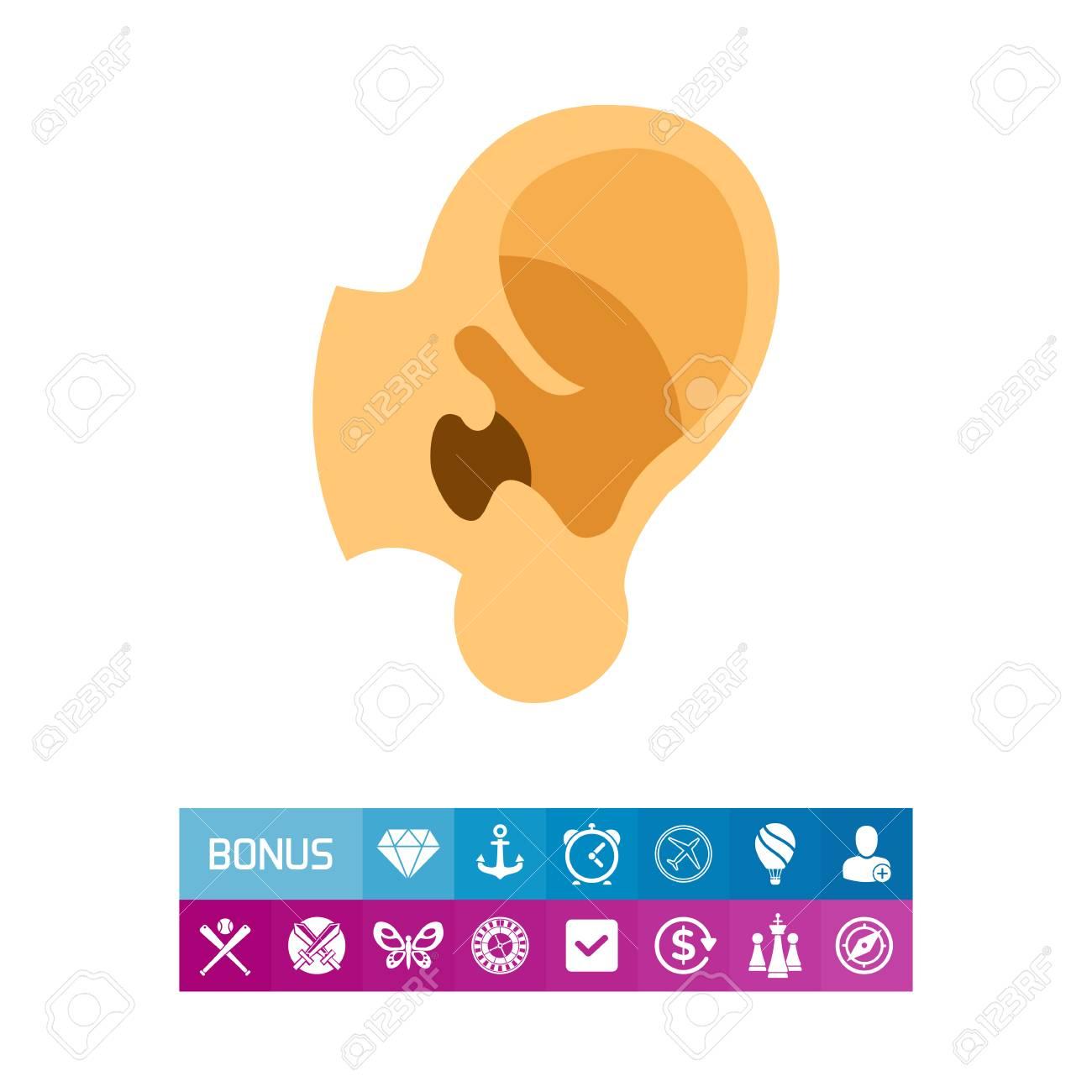 Ikone Des Menschlichen Ohres Anatomie, Klang, Sinn. Körperteil ...
