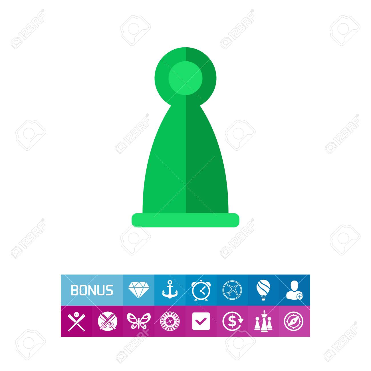 Icon of ludo figure  Piece, player, activity  Board games concept
