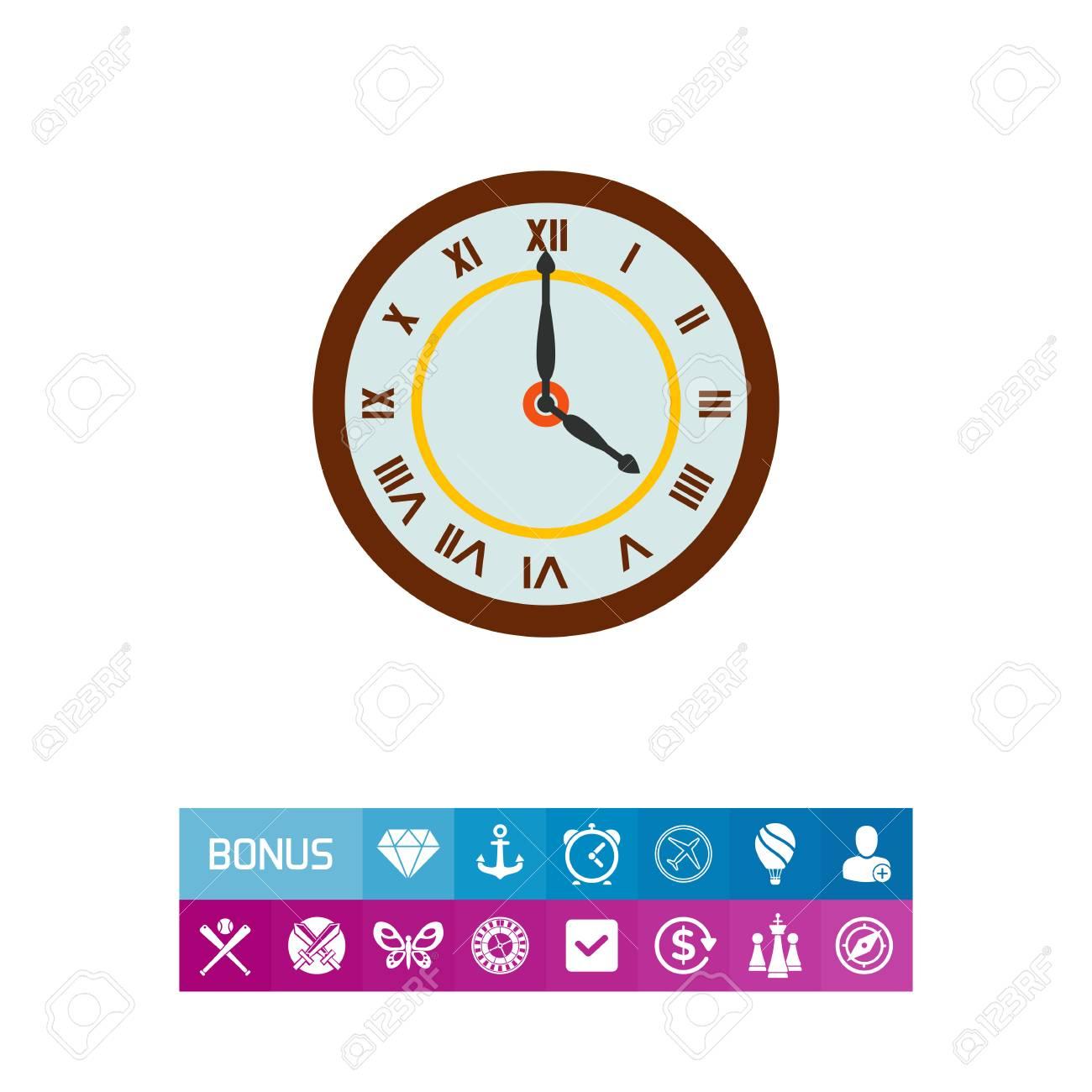 0836d650d5 Ilustração do relógio numeral romano. Tempo, números romanos, mão das horas,  ponteiro
