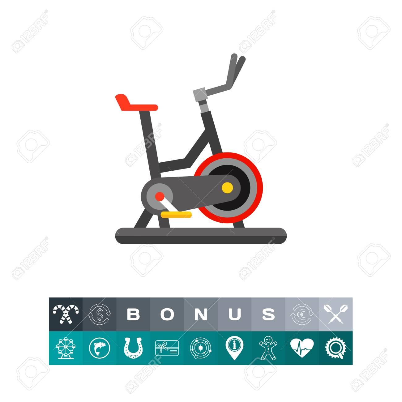 Icône De Vélo D\'exercice, Conception De Vélo D\'intérieur Multicolore ...