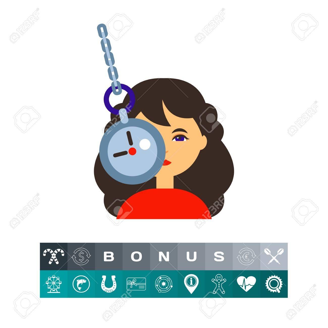 Del MentalManipulaciónConcepto Ilustración PsicoanálisisPuede Reloj Carácter De La HipnosisTerapia En Y CadenaMujer Bajo Femenino 9eE2bHIYWD
