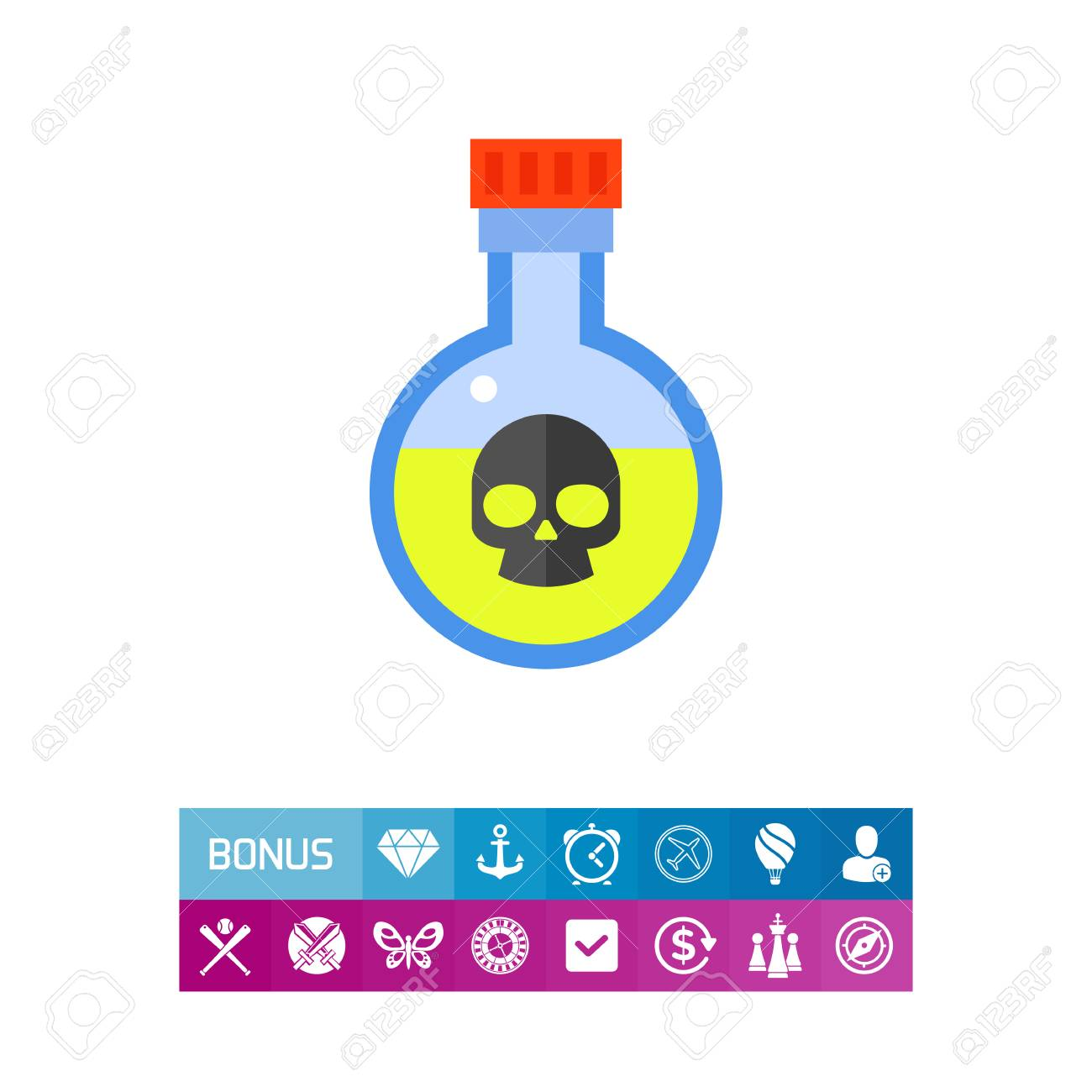 Vector icon of yellow liquid in flask with skull symbol poison vector icon of yellow liquid in flask with skull symbol poison chemical toxic buycottarizona