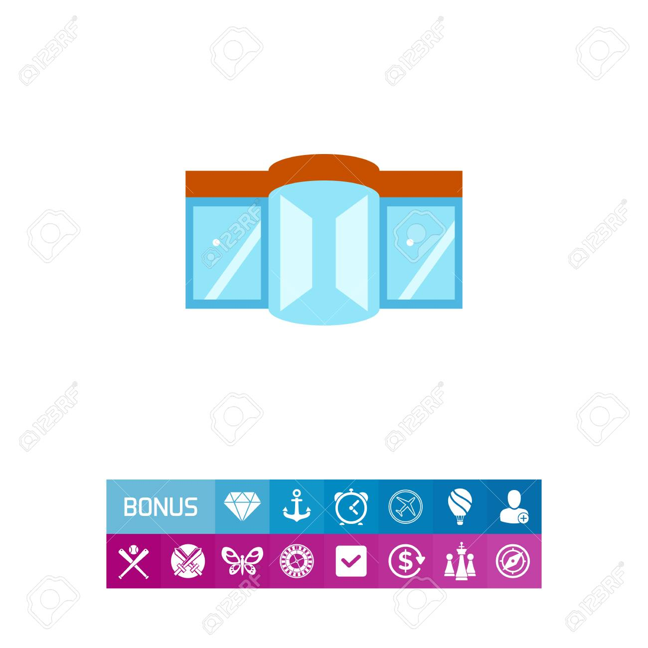 Shopping Mall stock vector. Illustration of cafe, sale - 23255853