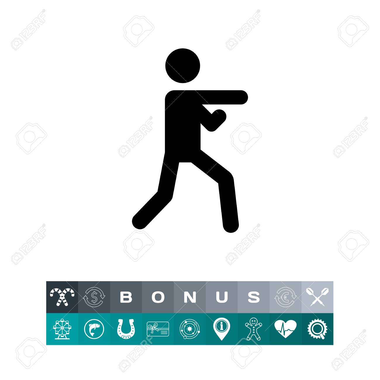 Karate Icon Royalty Free Cliparts Vectors And Stock Illustration