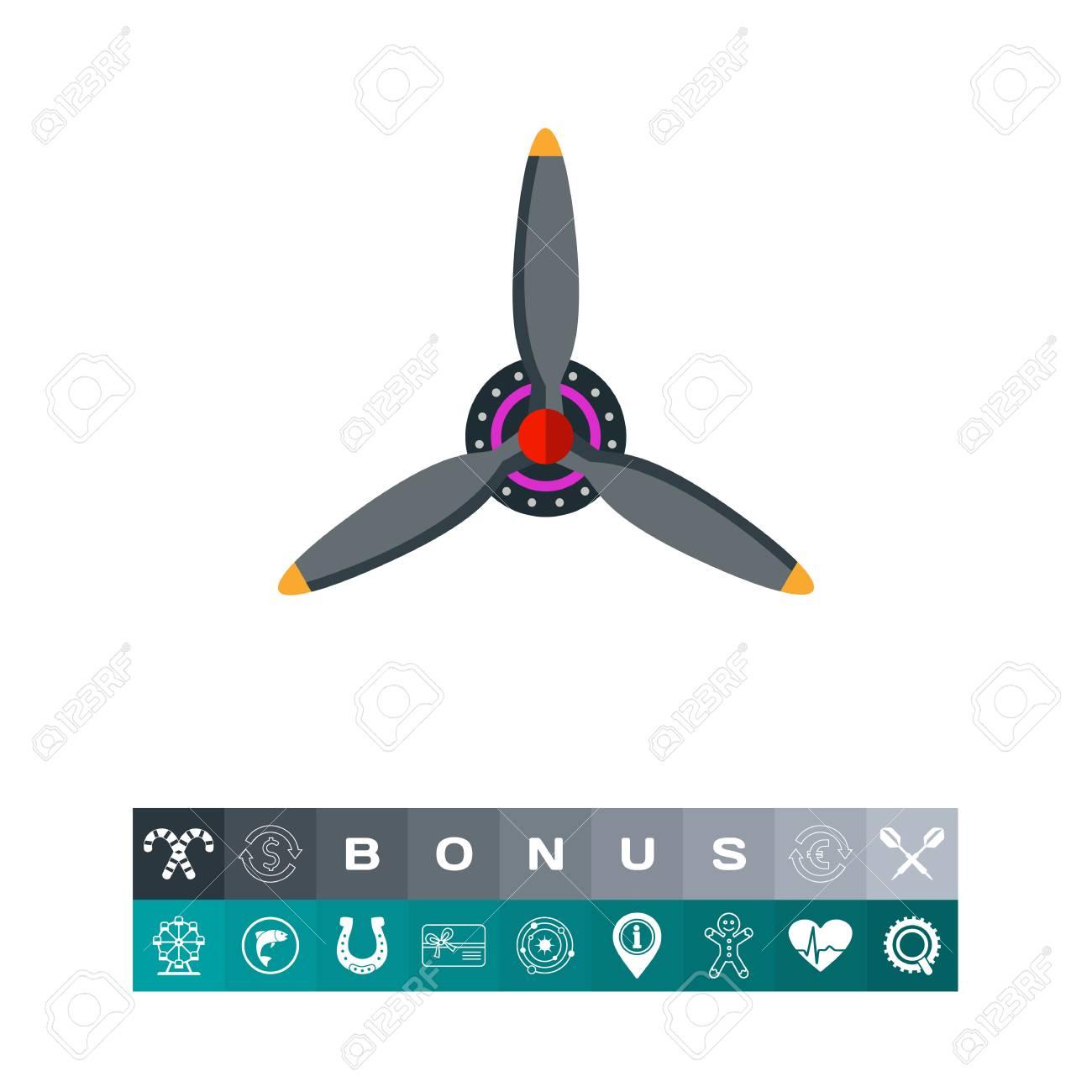 e623875efaba Three Blades Airplane Propeller. Engine