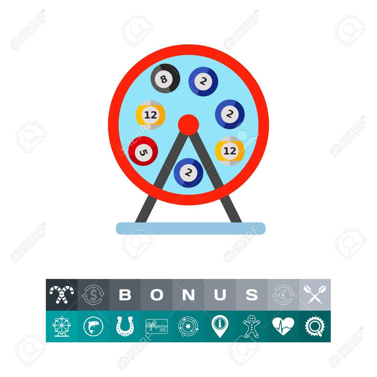 Icone De Vecteur De Machine A Loto De Roue Loterie Bingo Fortune Concept De Jeu Peut Etre Utilise Pour Des Sujets Comme Les Loisirs Passe Temps