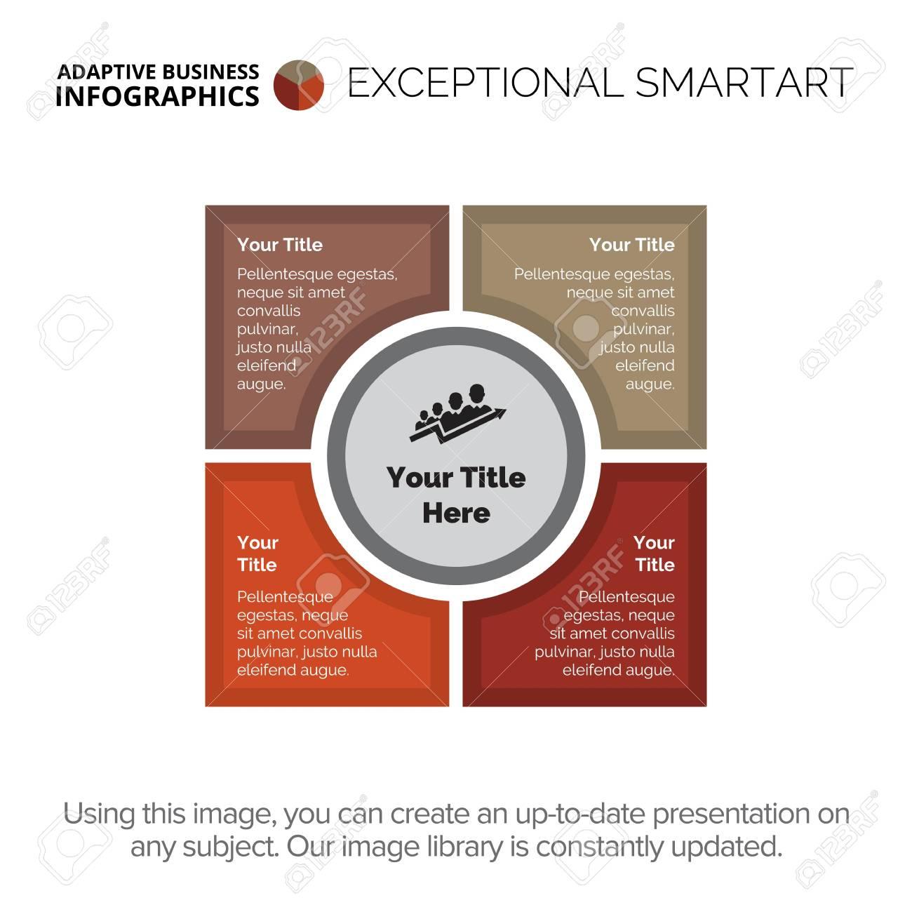 Four stages infographic diagram  Element of presentation, diagram,