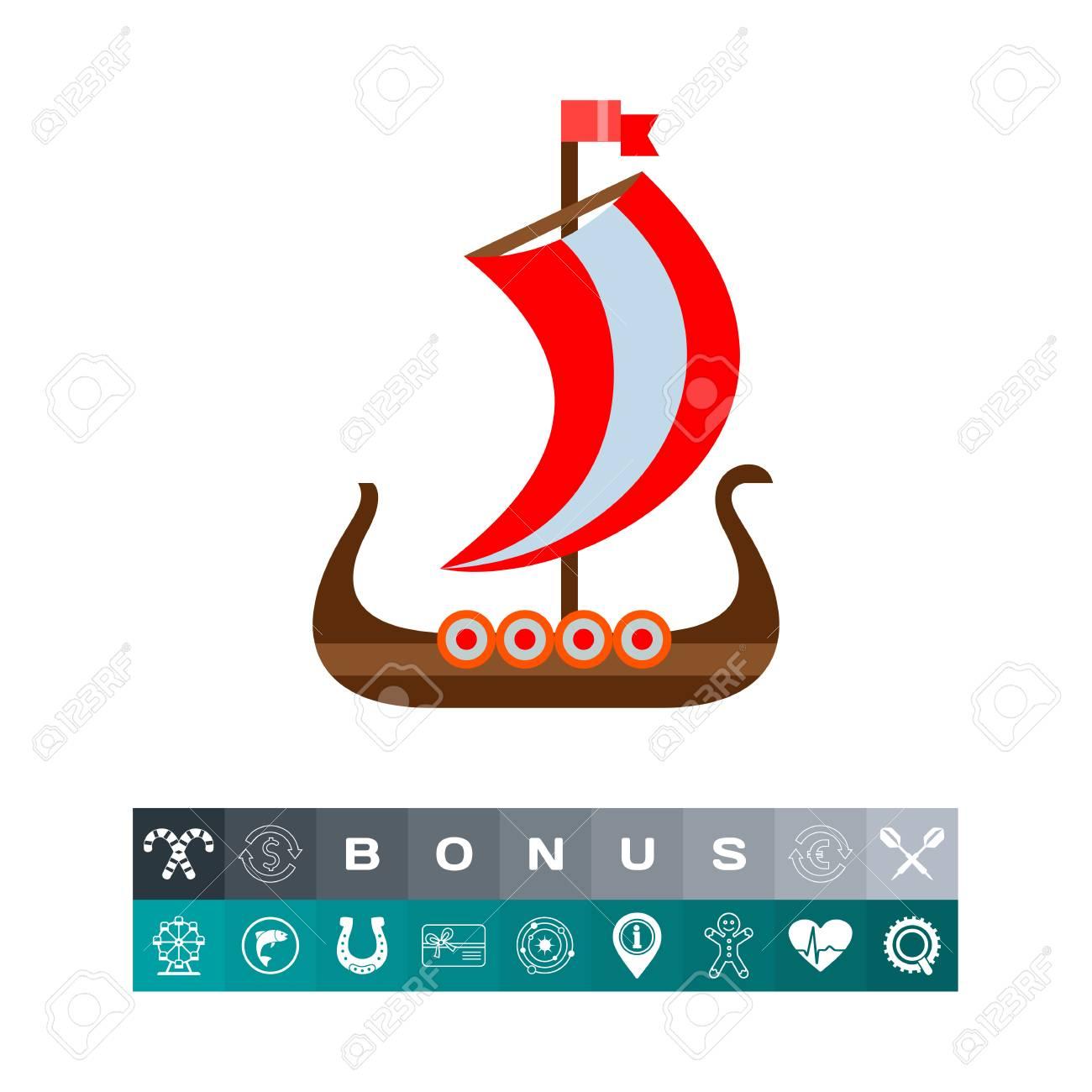 drakkar viking ship vector icon royalty free cliparts vectors and rh 123rf com