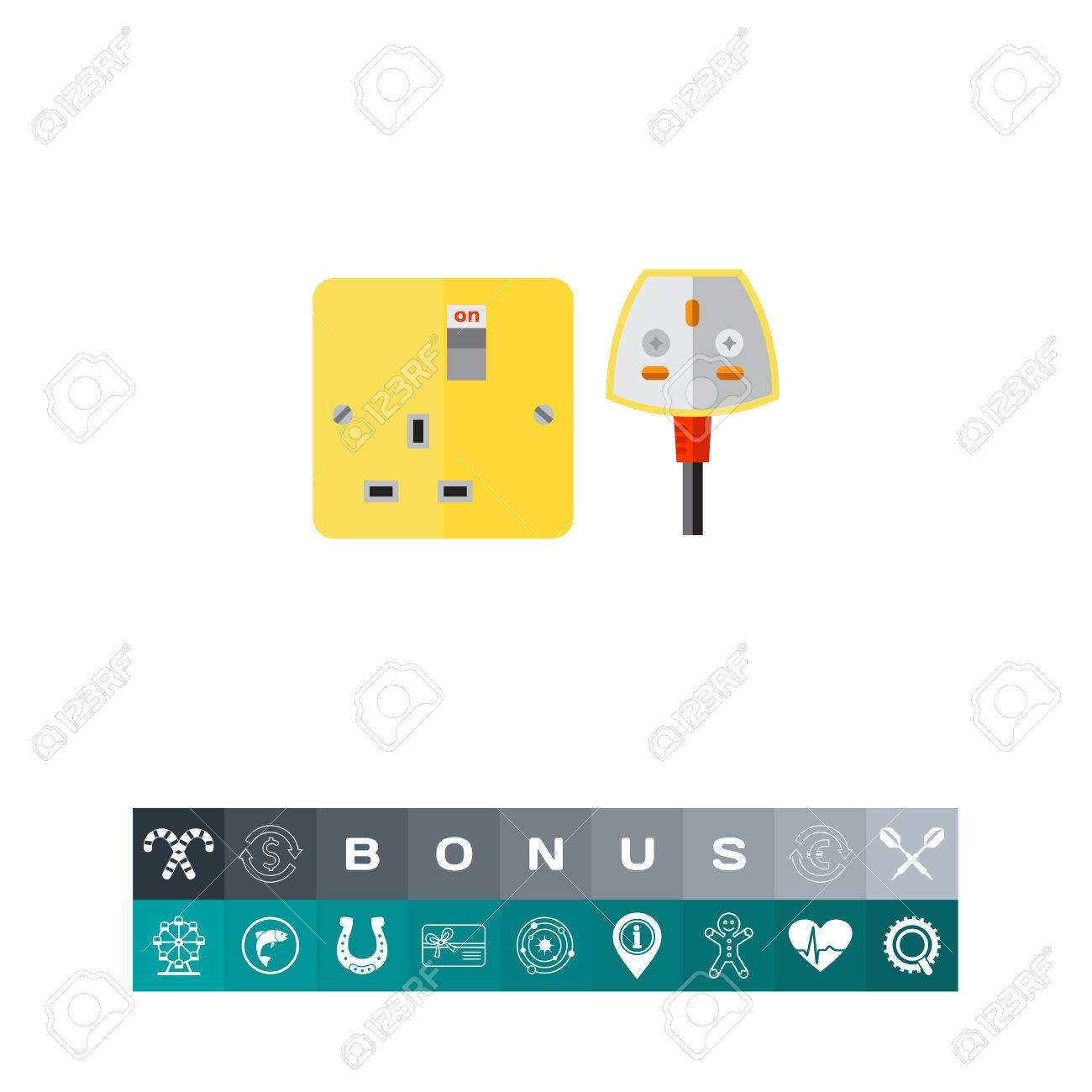 Electrical Outlet And Plug In UK. Safety, Energy, House. Power ...