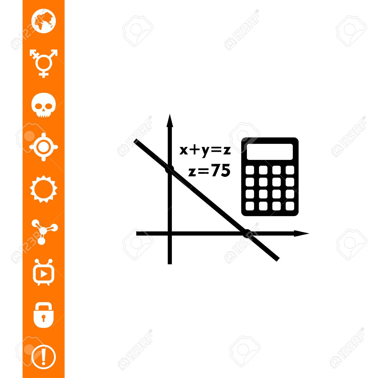 Algebra Simple Icon Royalty Free Cliparts, Vectors, And Stock ...