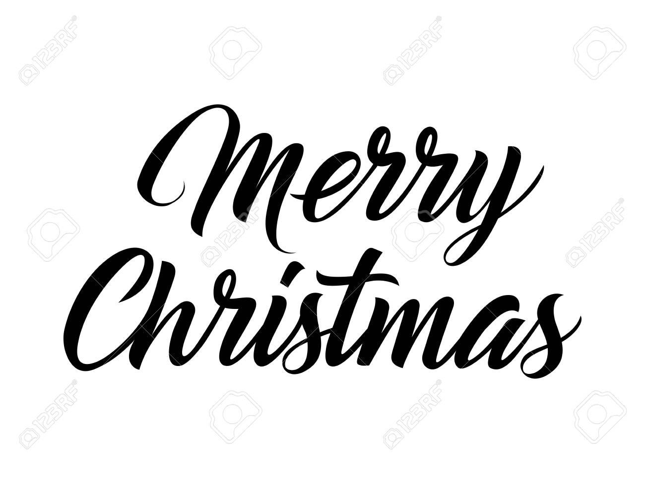 Christmas Lettering.Merry Christmas Lettering Christmas Design Element Handwritten
