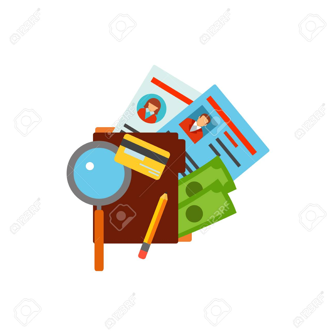 Icon of magnifying glass and folder with money credit card and icon of magnifying glass and folder with money credit card and records offshore company reheart Gallery