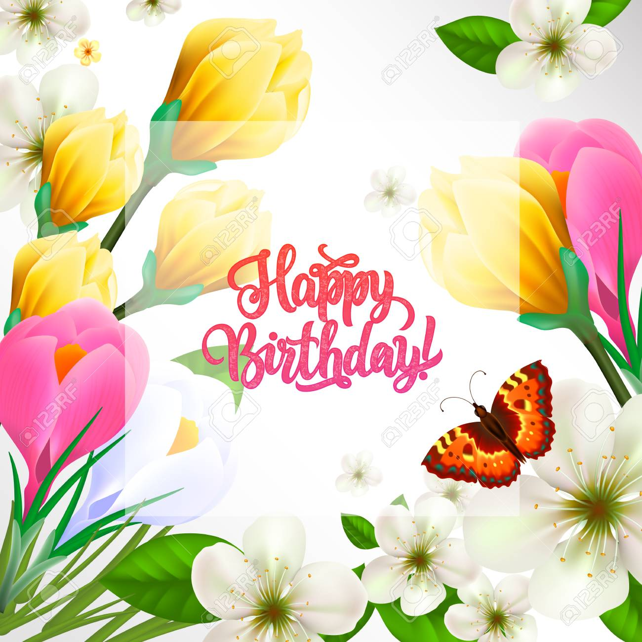 Happy Birthday Lettering Special Occasion Greeting Card With