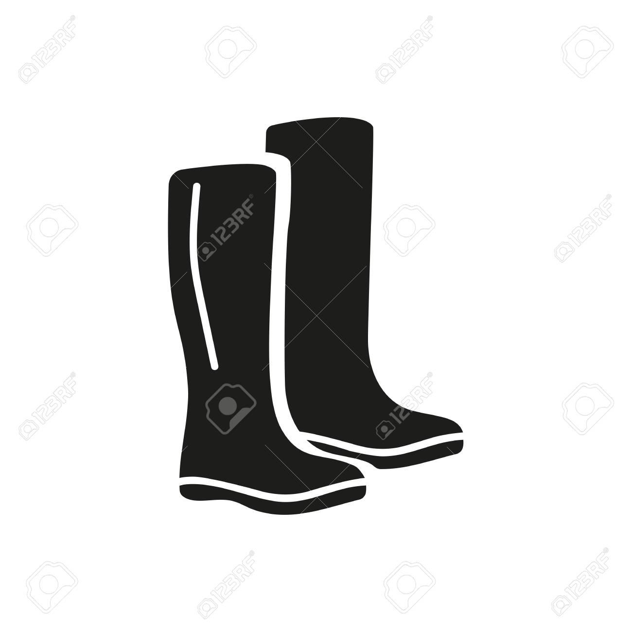 6f0c290d558 Icon of rubber boots. Waterproof, rain footwear, comfort. Season..
