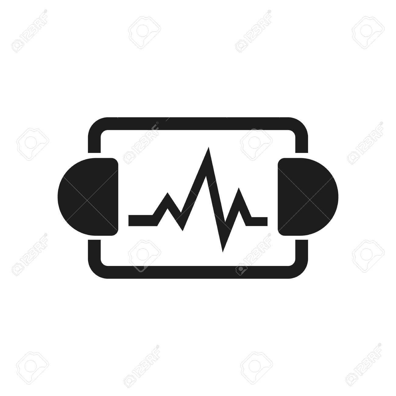 Icon of resuscitation department emergency heartbeat equipment icon of resuscitation department emergency heartbeat equipment hospital room concept can buycottarizona Images