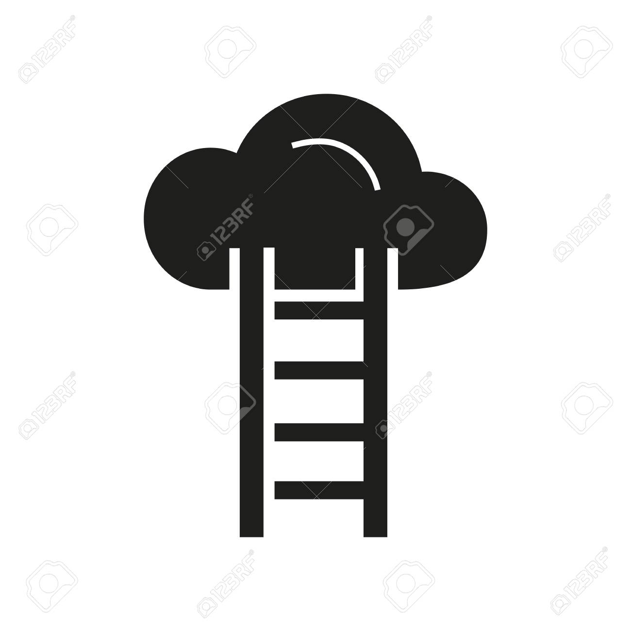 Icon of cloud storage  Online file, ladder, provider  Web page