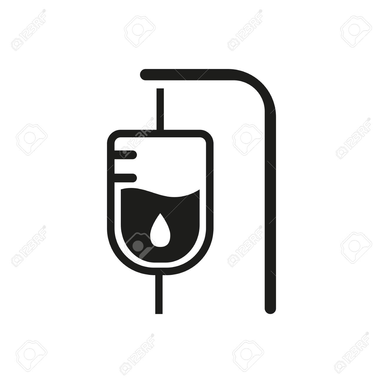 Icon of intensive therapy room emergency intravenous feeding icon of intensive therapy room emergency intravenous feeding transfusion hospital room concept buycottarizona Images