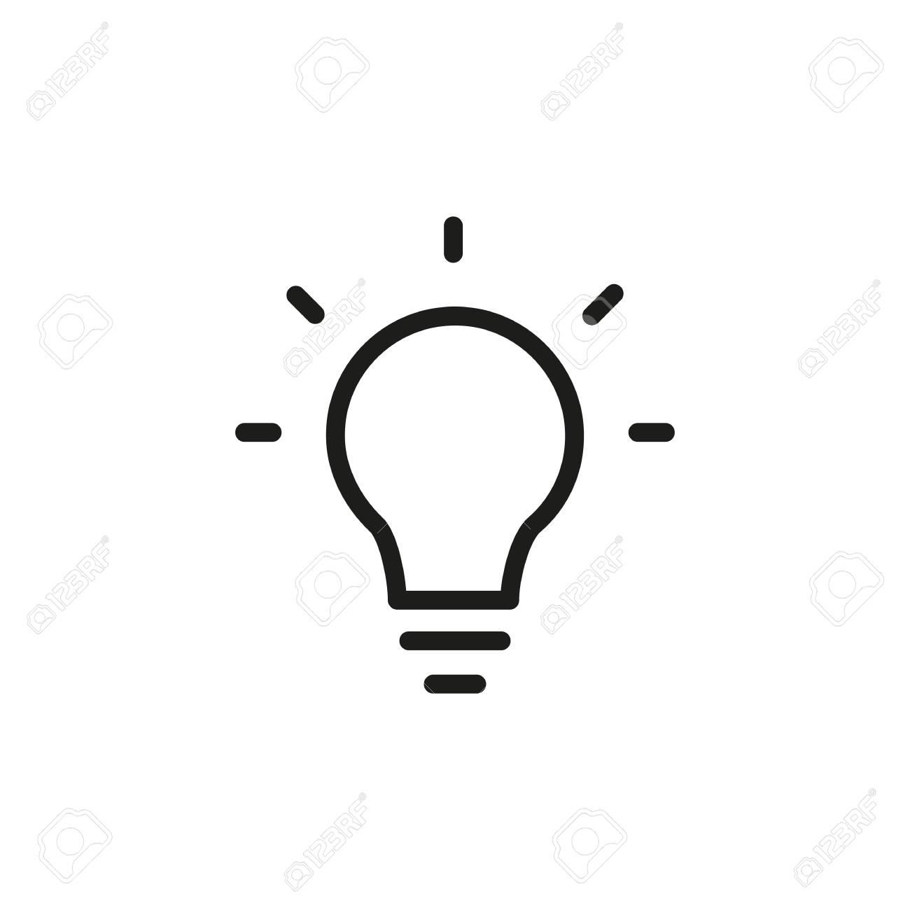 Bright Idea Icon Stock Vector