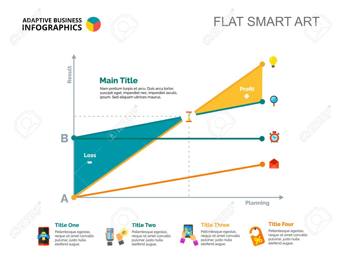 Line chart  Diagram, graph, layout  Creative concept for infographics,