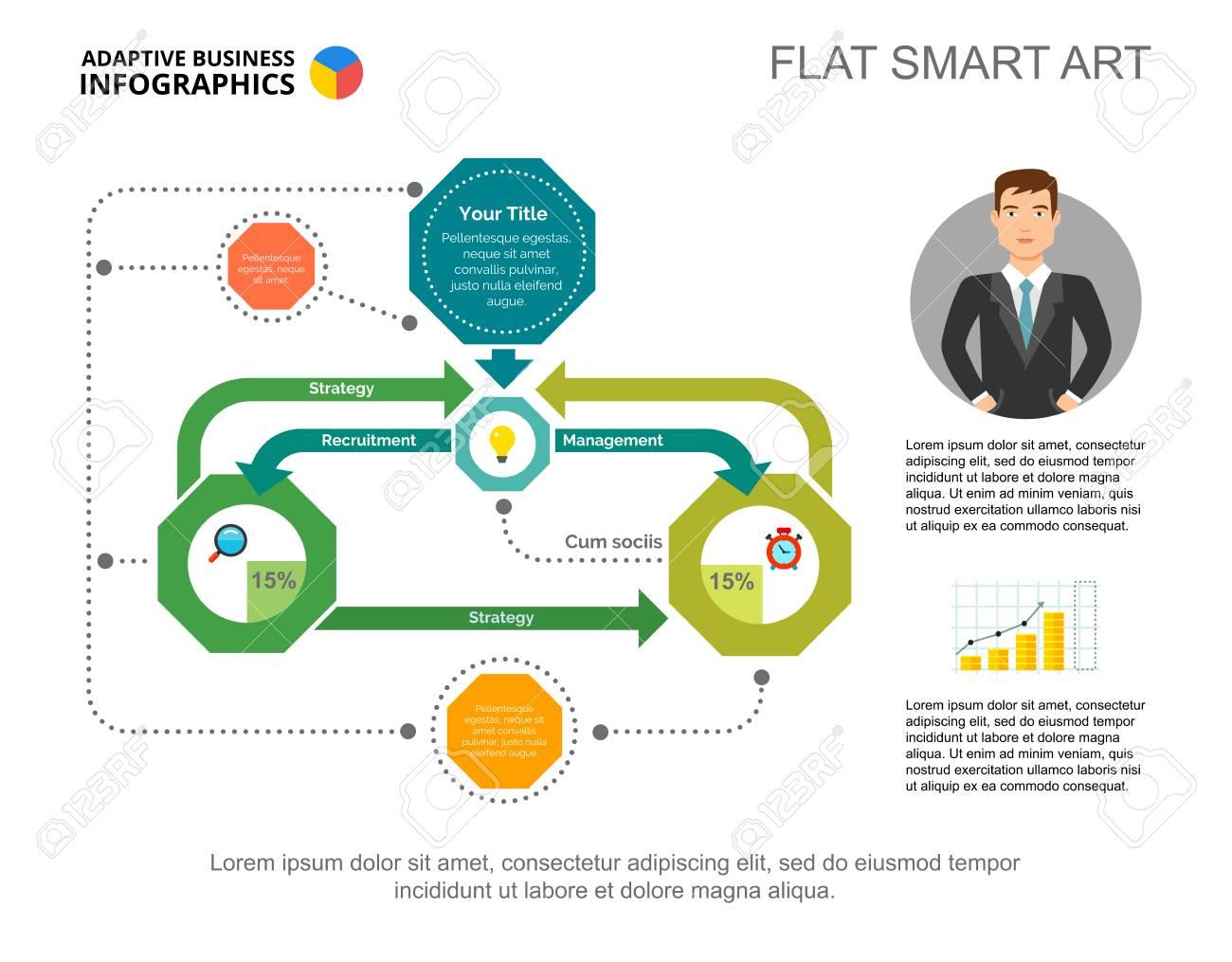complex flowchart slide template. business data. workflow, scheme