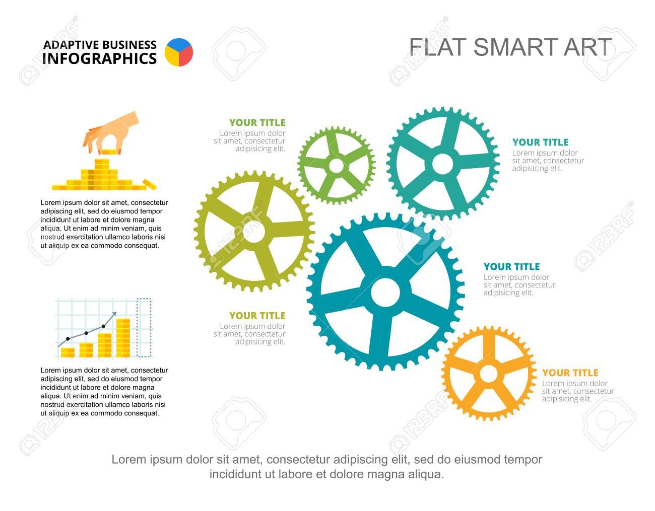 Five ideas process chart  Business data  Financial, money, design