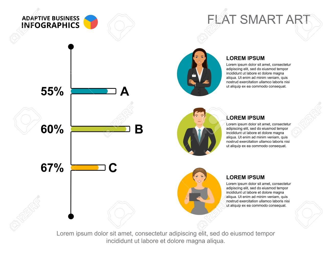 Bar Chart Template | Three Options Bar Chart Template For Presentation Business Data