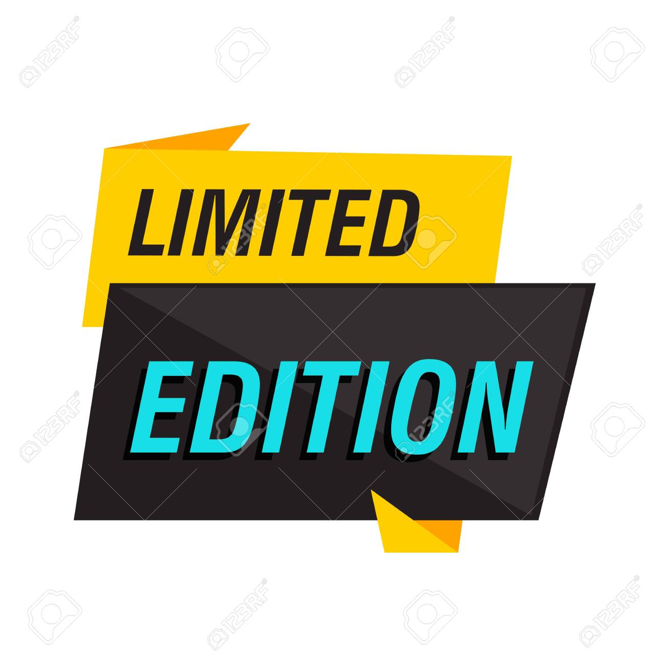 Limited edition sign on white background. Lettering can be used for advertising label, stickers, banners, leaflets, badges, tags, posters. Sale concept - 134738520