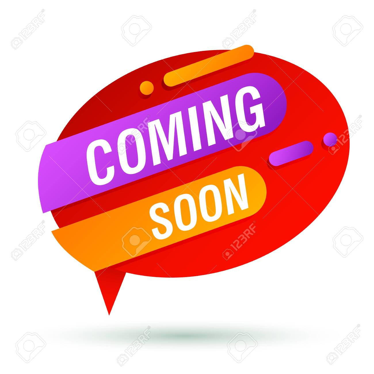 Coming Soon Red Banner Design Speech Bubble Oval Shape Vector Royalty Free Cliparts Vectors And Stock Illustration Image 137477632