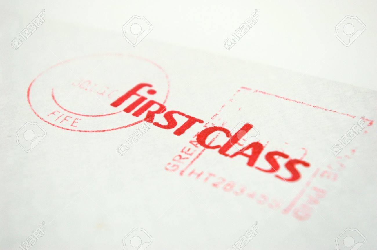 First Class Letter Stock Picture And Royalty Free Image