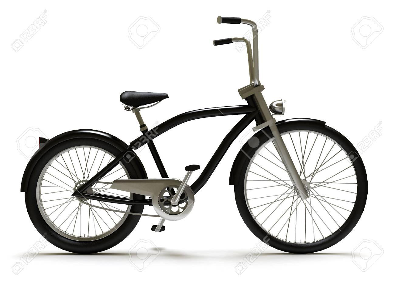Black cruiser bicycle right Stock Photo - 6319247